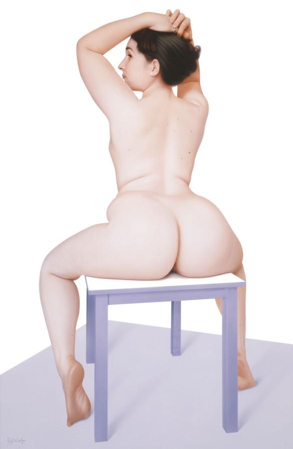 Hubert de Lartigue Eva Sitting Acrylic on canvas 92 x 60 cm