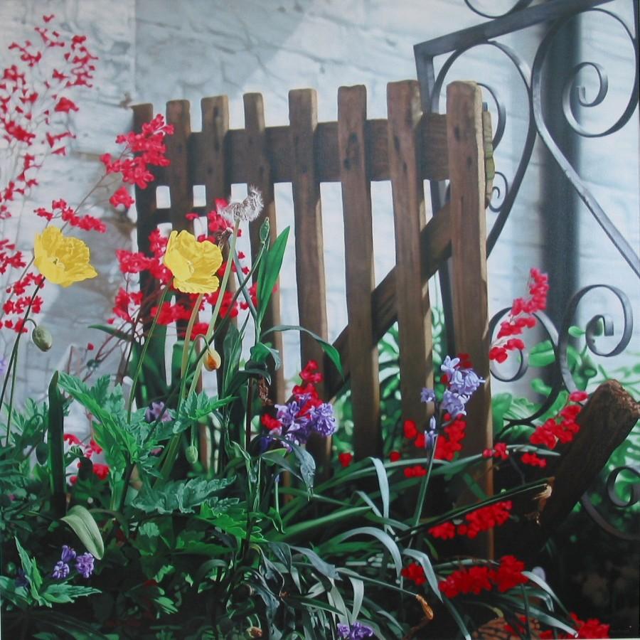Glen Semple Laura's Garden Acrylic on canvas 120 x 120 cm