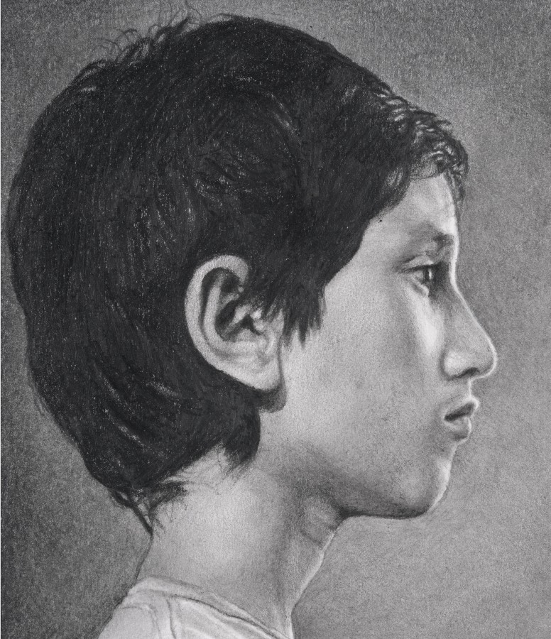 Study for LC(3000 years) pencil on paper 12.4 x 10.9 cm