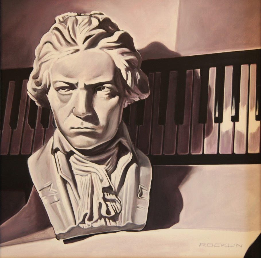 Peter Rocklin Cherished Possessions: Beethoven Oil on panel 30 x 30 cm