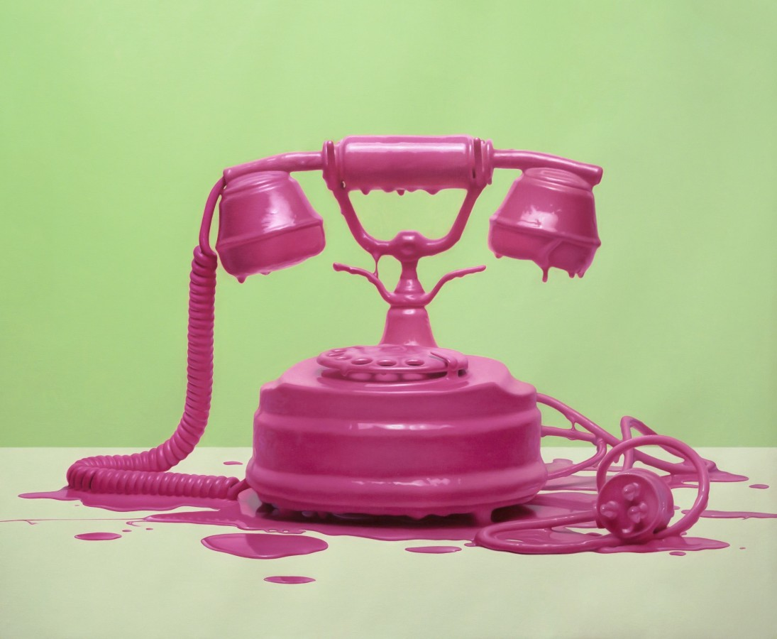 David de Biasio Dripping Memory Series - Vintage Phone oil on linen 100 x 120 cm