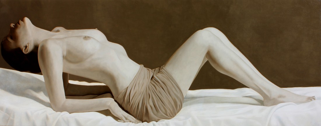 Toby Boothman Stretch oil on canvas 60 x 150 cm
