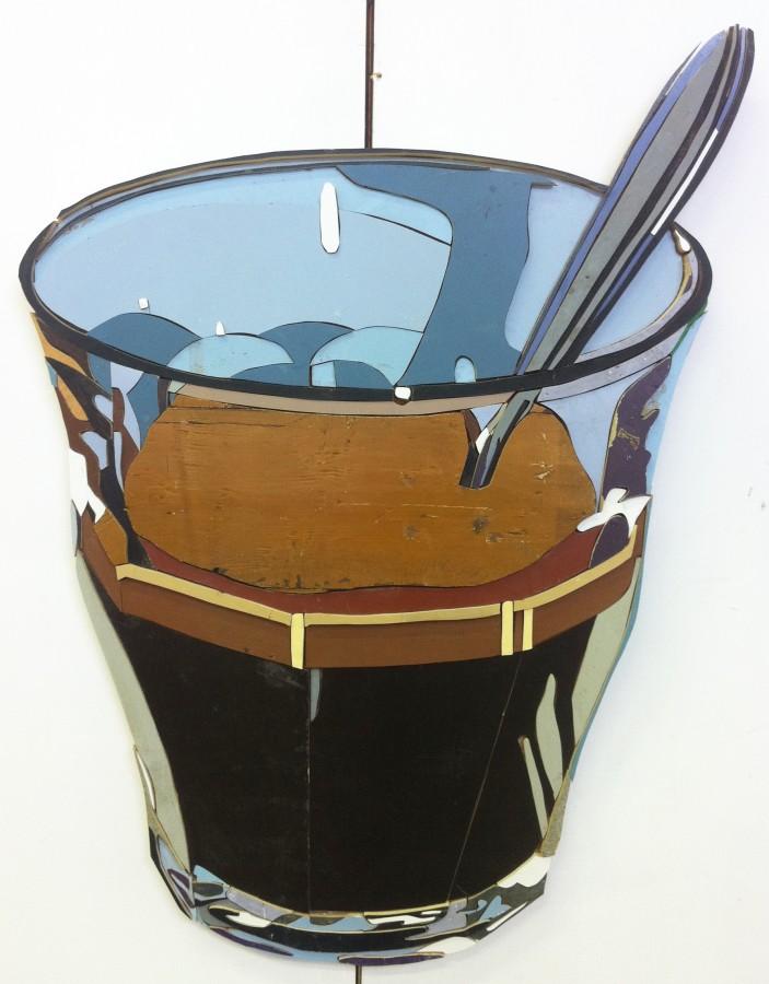 Espresso Duralex Colored salvaged wood 130 x 98 x 3.5 cm