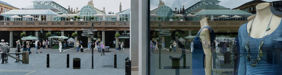 Christian Marsh Covent Garden, London oil on canvas 80 x 300 cm