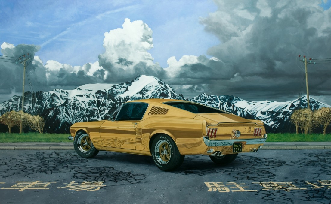 David Finnigan Grand Tour oil on linen 105 x 170 cm