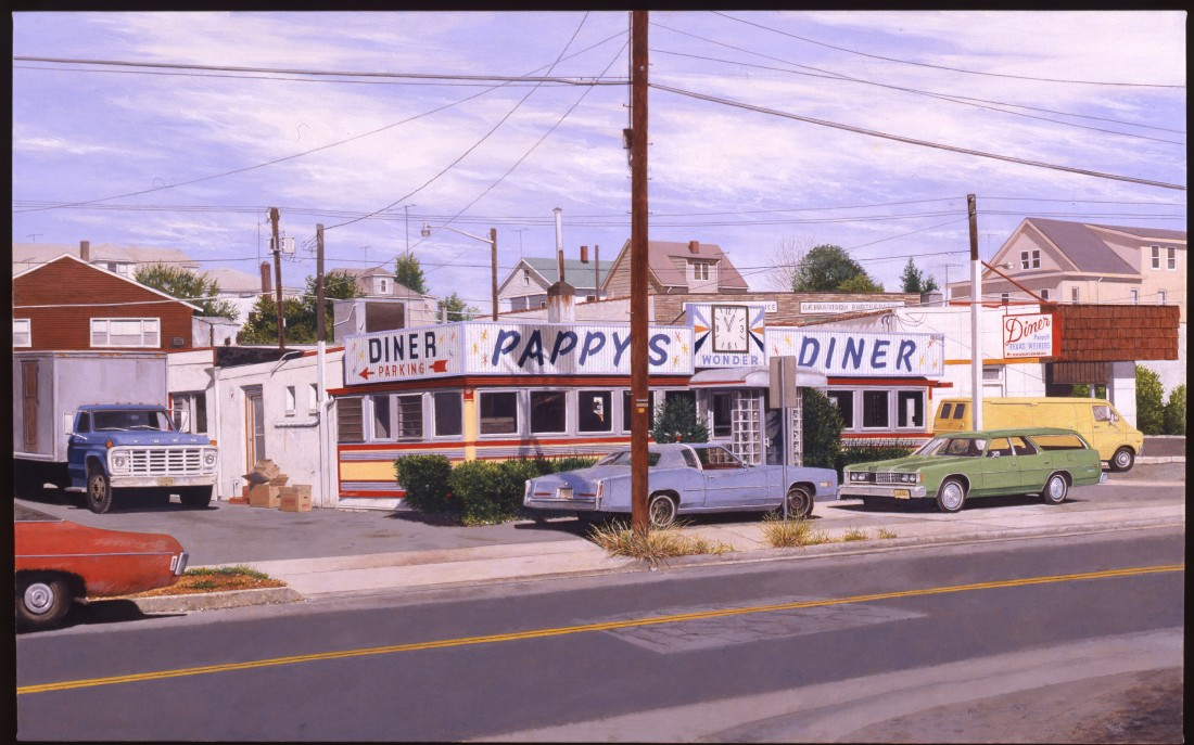 John Baeder Pappy's, Wayne, NJ oil on canvas 76 x 122 cm
