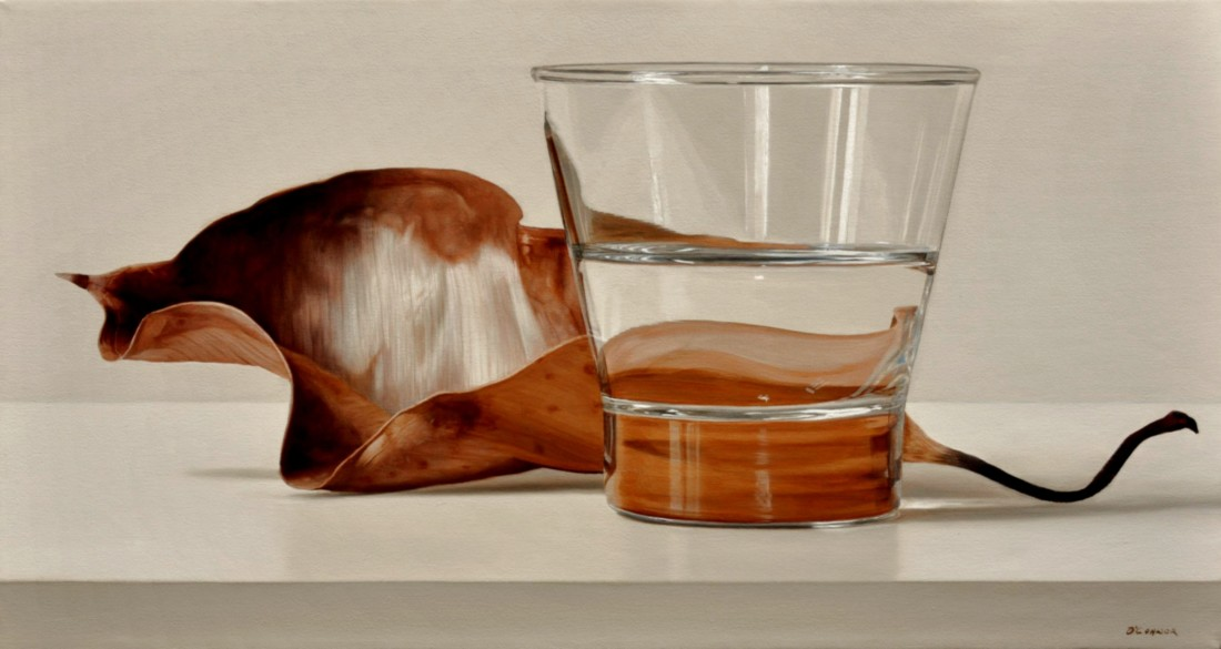 Fernando O'Connor Autumn Leaf oil on canvas 35.5 x 65.5 cm