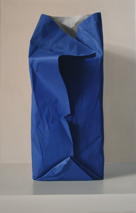 Fernando O'Connor Blue Bag oil on canvas 110 x 70 cm