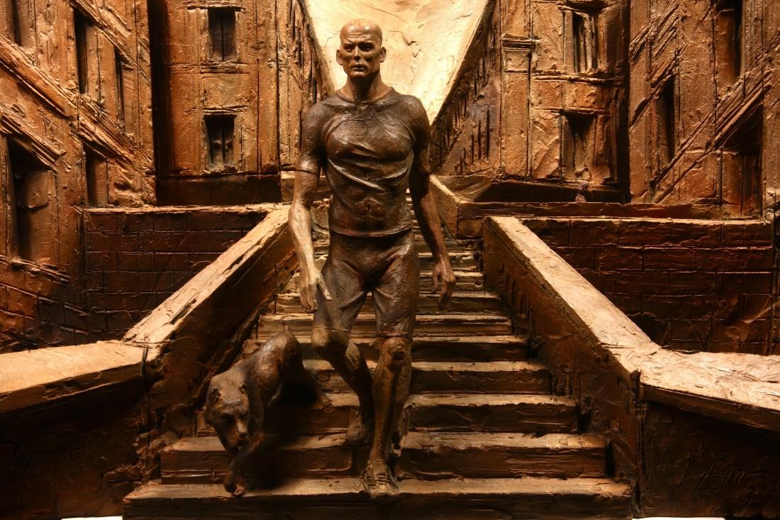 La rue de l'enfer Bronze 43.5 x 60.5 x 24 cm