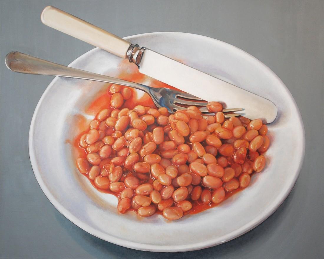 "Cynthia Poole ""Beanz"" Acrylic on linen 76 x 60.5 cm"