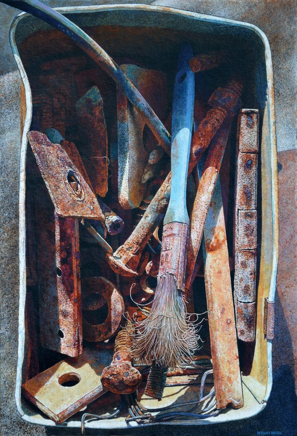 <p>Angua McEwan</p><p>&#34;Box Full of Shadows&#34;</p><p>Watercolour on paper</p><p>55 x 37.5 cm</p>