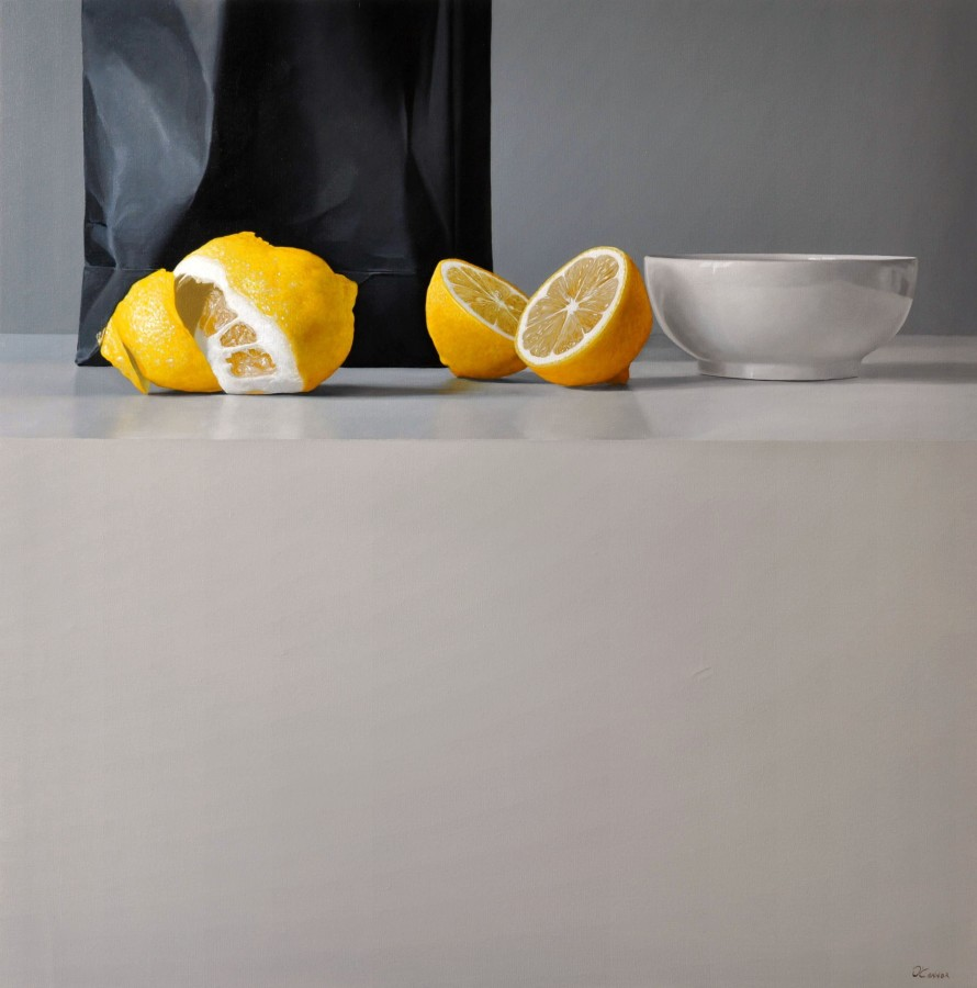 <p>Fernando O'Connor</p><p>&#34;Lemons and Bowl&#34;</p><p>Oil on canvas</p><p>90 x 90 cm</p><p>&#160;</p><p>&#160;</p>