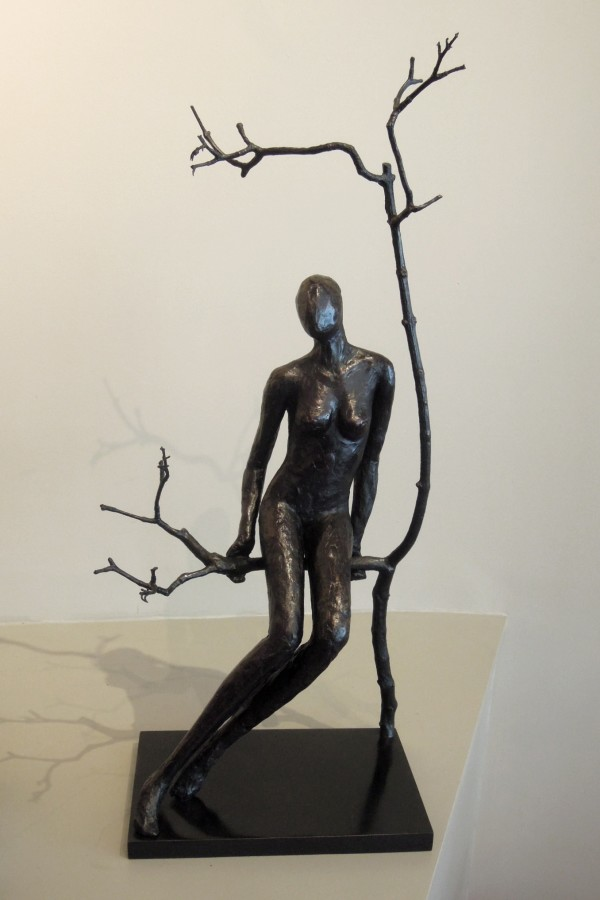 "Caroline D'Andlau ""Massai Sitting"" Bronze"