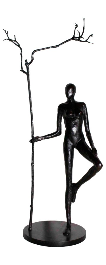 <p>Caroline D'Andlau&#160;</p><p>&#34;Massai Worrior With Tree&#34;</p><p>Bronze</p><p>79 x 40 x 24 cm&#160;</p>