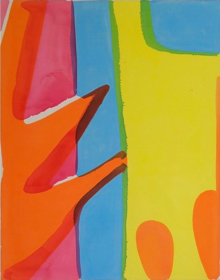 Tim Braden, Abstract 103 (Orange/Yellow), 2014, 140 x 110cm
