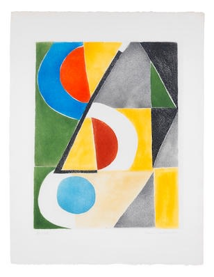 Sonia Delaunay, Untitled, c.1963, etching and aquatint on Arches paper, 66 x 50cm