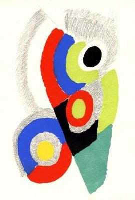 Sonia Delaunay, Les Ponts II, 1973, pochoir with pencil, 55 x 38.5cm