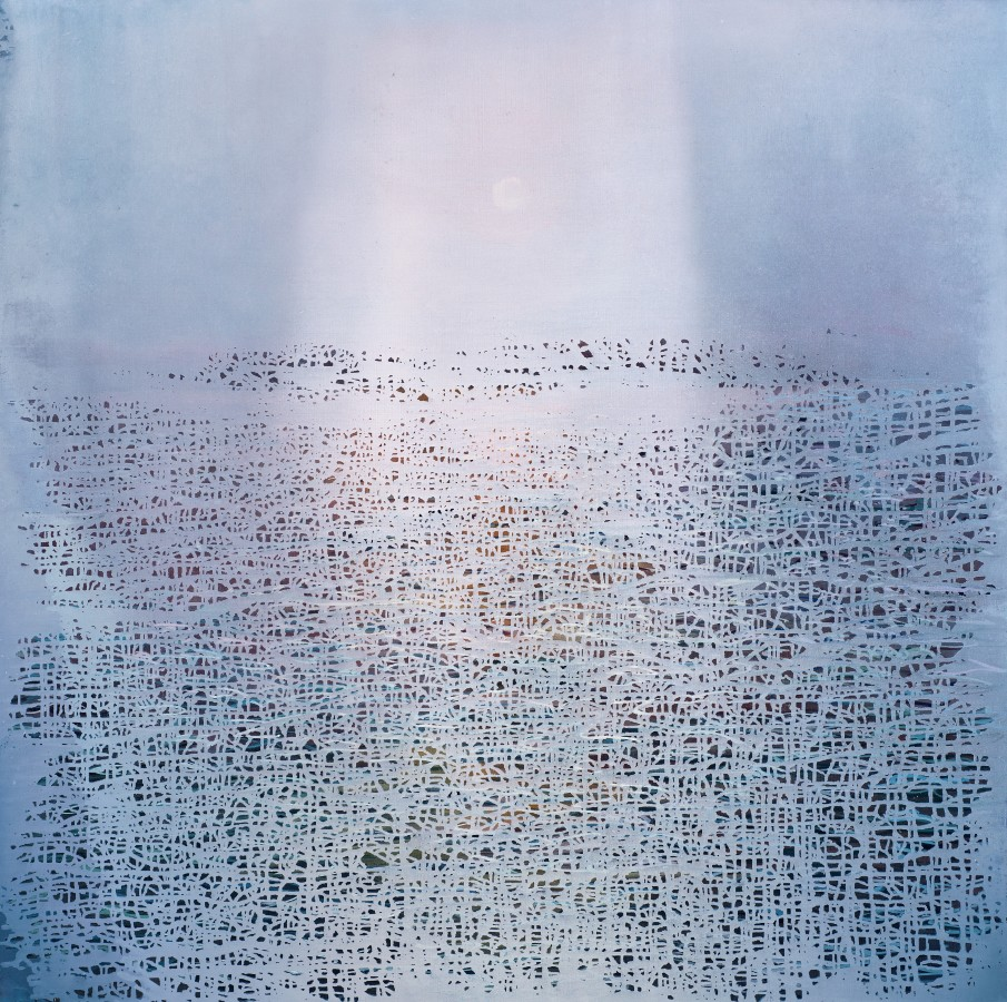 Ganga 12, 2018 signed and dated verso oil on canvas 120 x 120cm