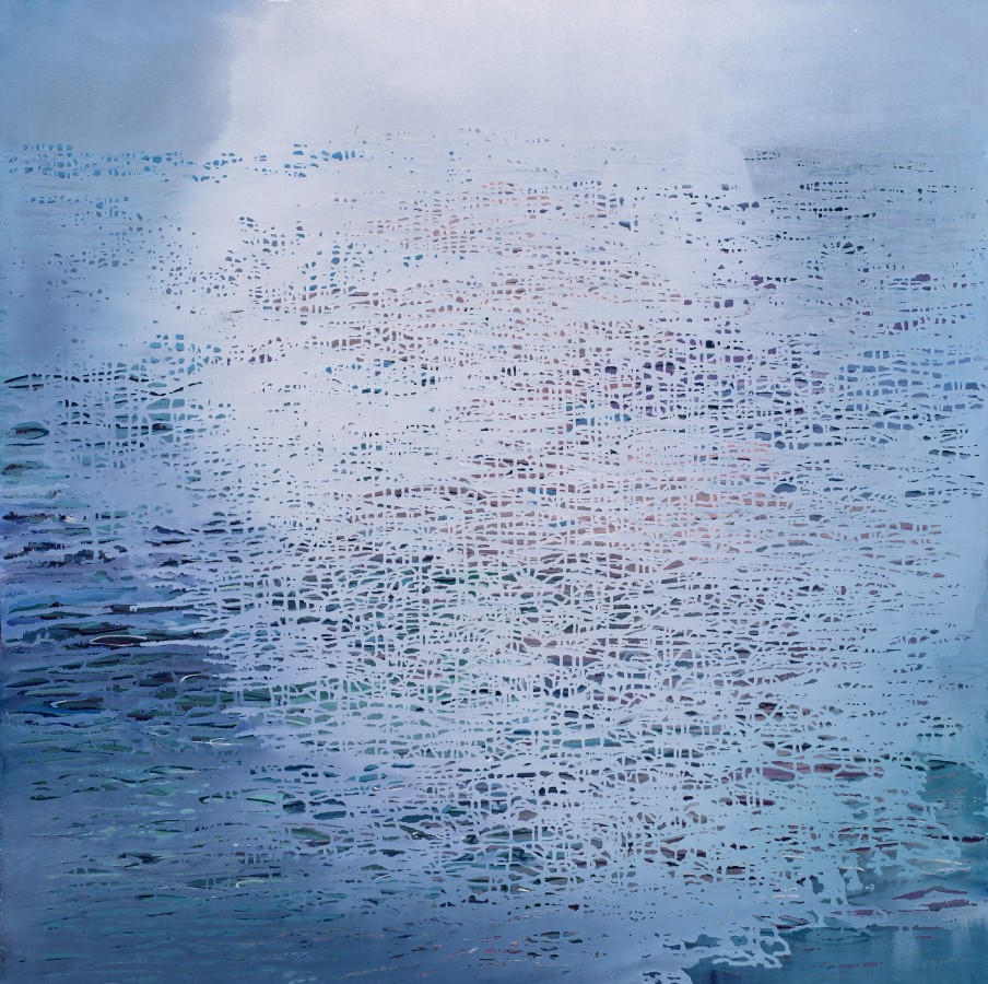 Ganga 13, 2018 signed and dated verso oil on canvas 120 x 120cm