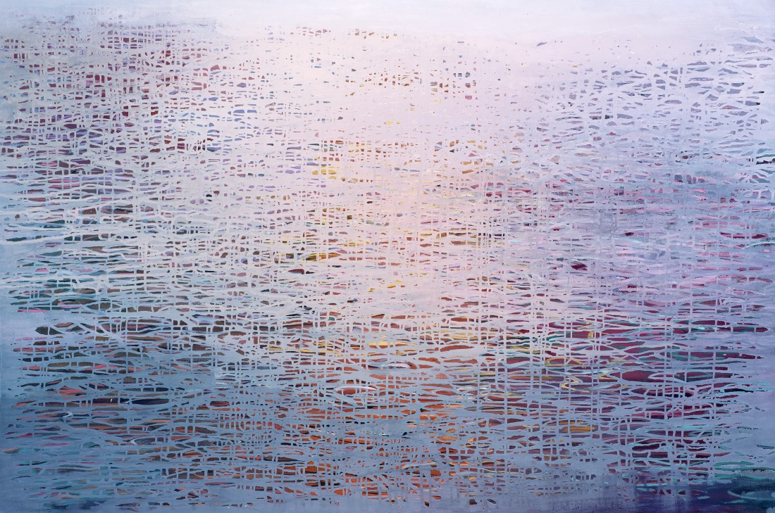 Ganga 15, 2018 signed and dated verso oil on canvas 100 x 150cm