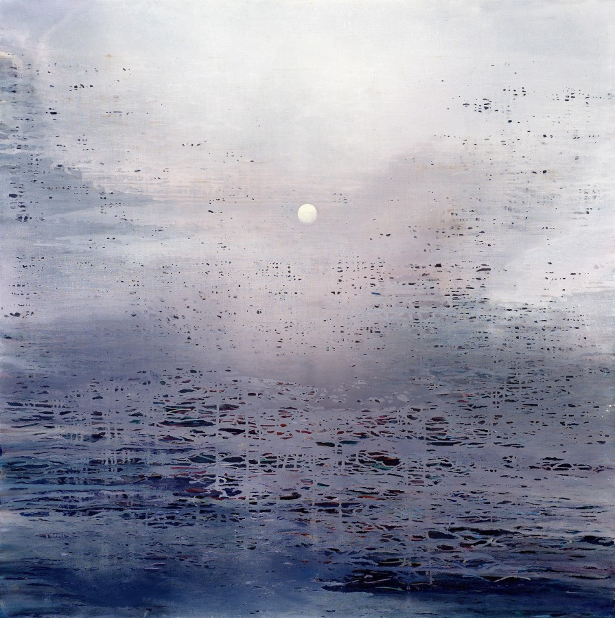 Ganga 19, 2018 signed and dated verso oil on canvas 152 x 152cm