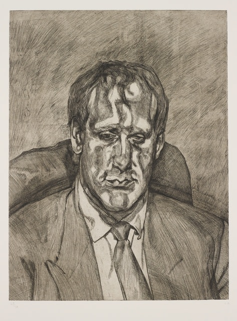 Lucian Freud, Head of an Irishman, 1999