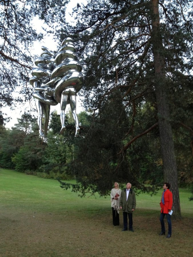 Louise Bourgeois, 'The Couple' Aluminium, 3.65 x 2 x 1 mtr