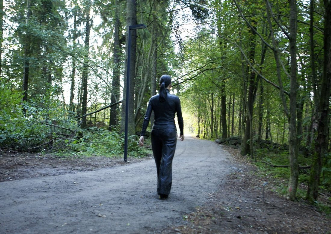 Sean Henry, 'Walking Woman' Bronze, oil paint, 2.17 x 0.76 x 1.25 Mtr