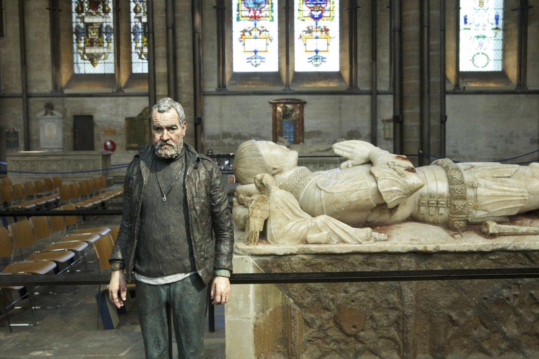 John (Standing) Bronze, Oil Paint 78 x 30 x 19 cm | 31 x 12 x 7 in