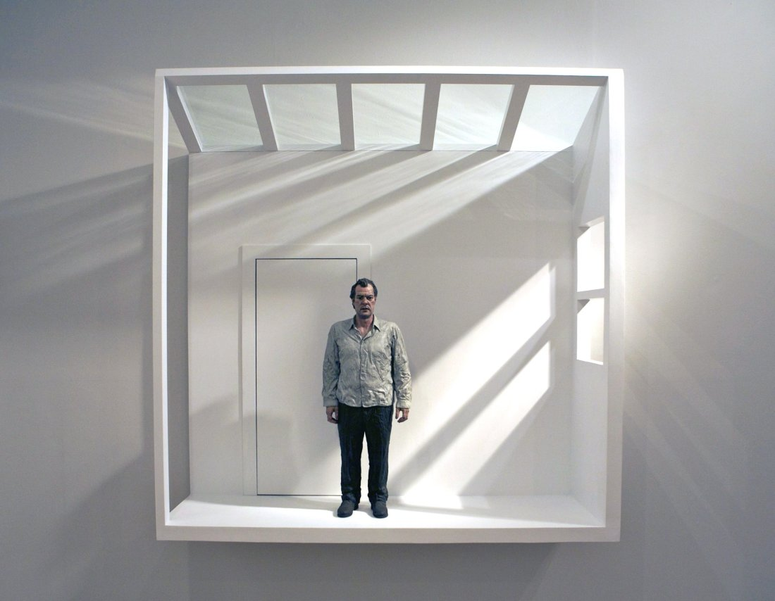 Man In A Room, 2012 Bronze, Aluminium 150 x 150 x 45 cm | 60 x 60 x 18 in