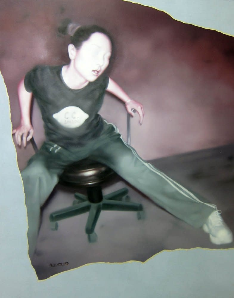 A moment of a Sitting Girl, 1999