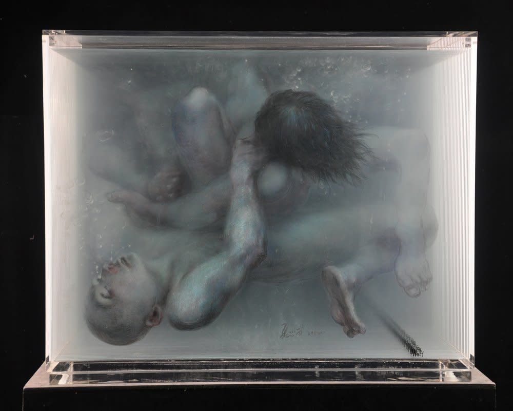 Two People in Water, 2012