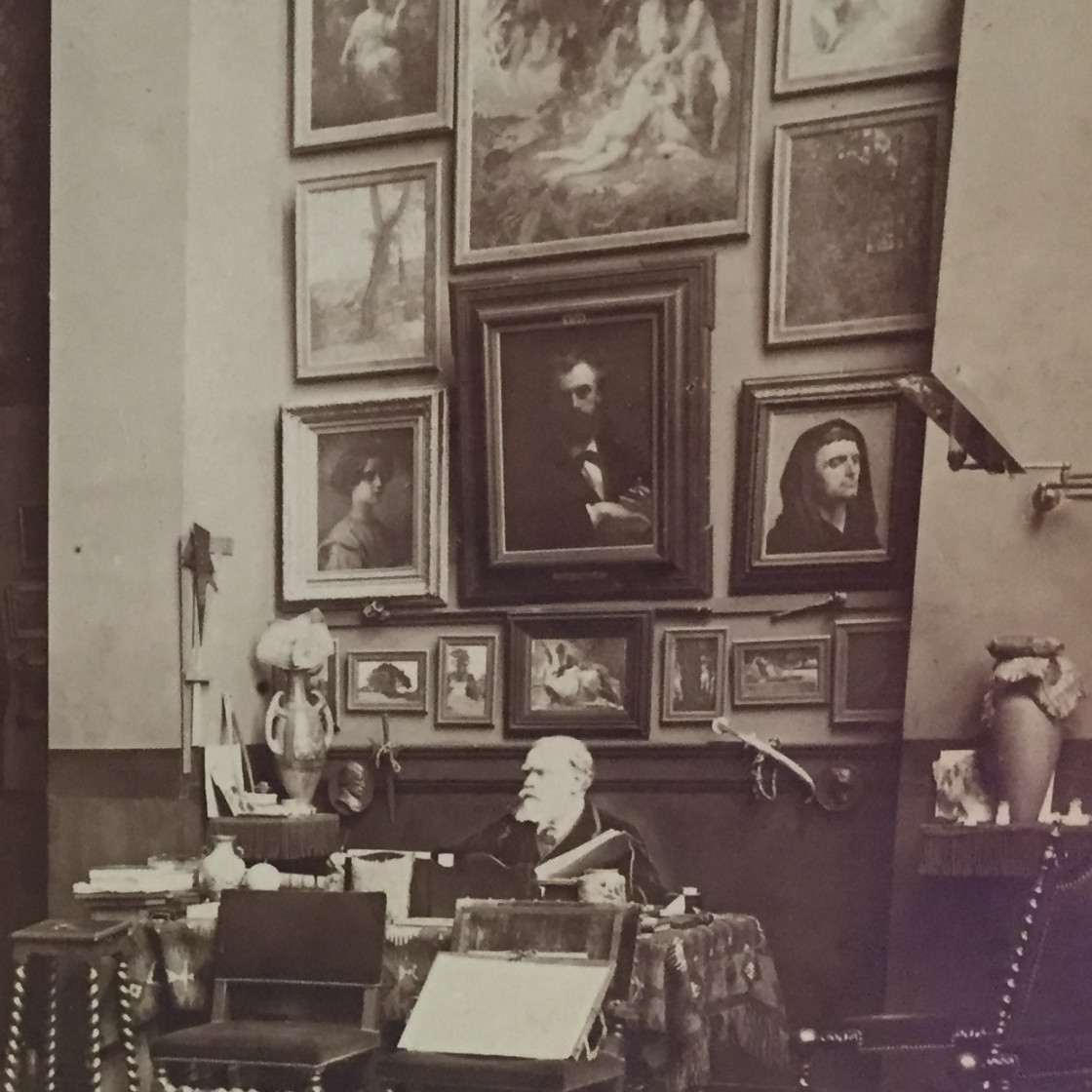 Cabanel in his studio with Paradise Lost on the wall above.