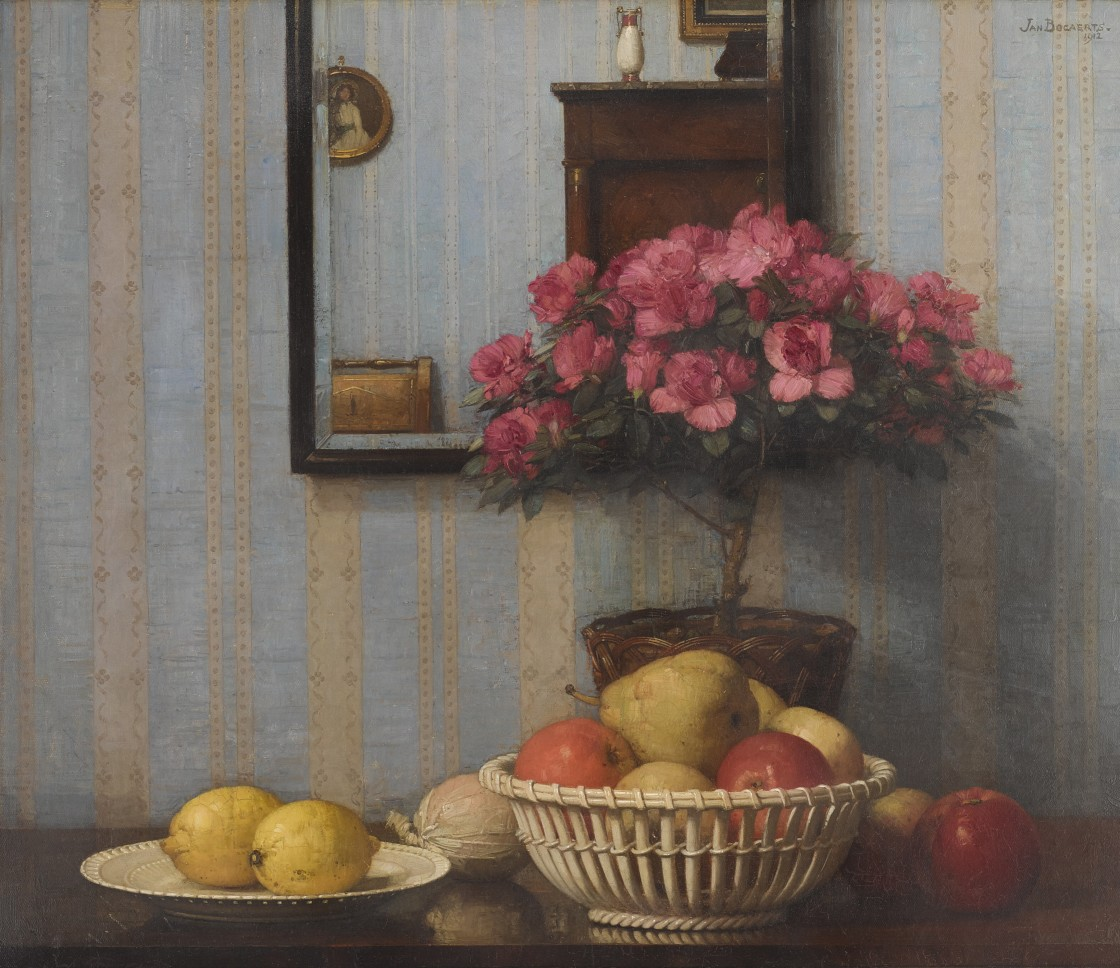 Jan Bogaerts  Still Life with Azaleas, 1912  oil on canvas  23 7/8 by 27 5/8 inches (61.6 by 70.2 cm)  signed and dated upper right: 'JAN BOGAERTS 1912'