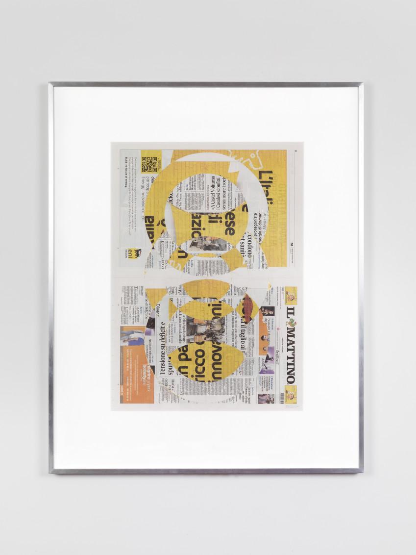 Blind Collage (Three 180º Rotations, Il Mattino, Martedì 18 Settembre 2018), 2018