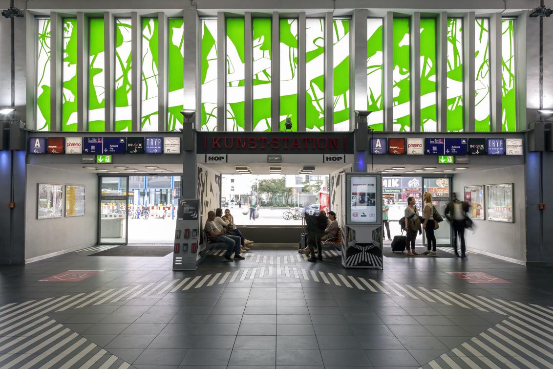 Hop, Kunst-Station at Hauptbanhof Wolfsburg, Germany, 2018