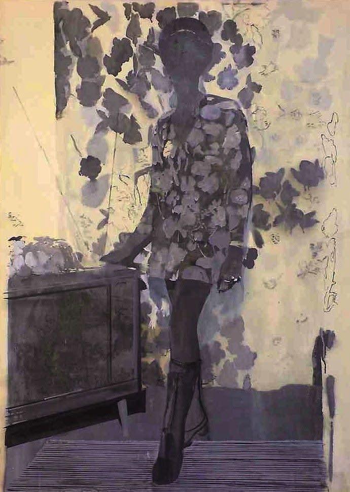 Untitled (Lady/TV), 2001