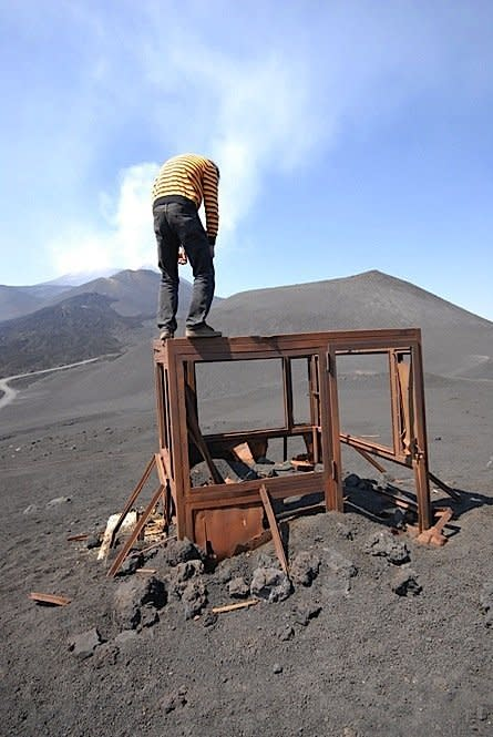 Self-Portrait At Etna, 2007