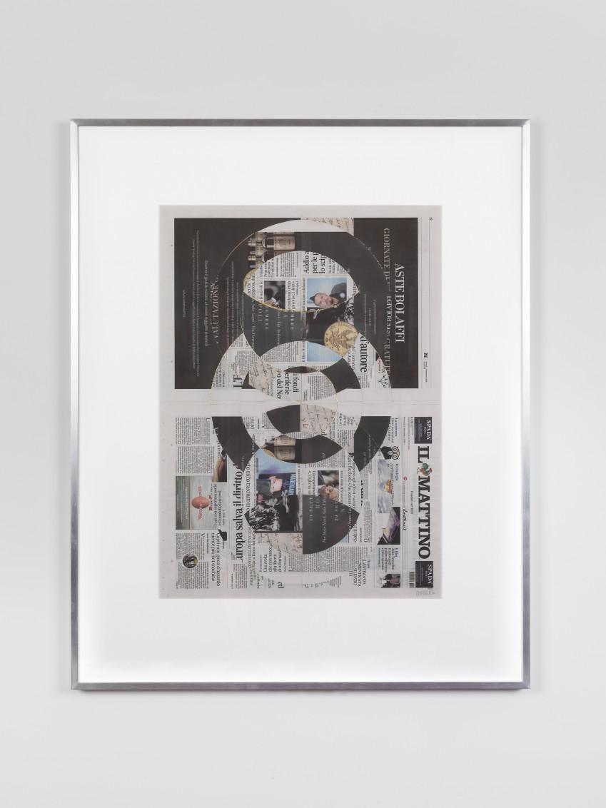 Blind Collage (Three 180º Rotations, Il Mattino, Giovedì 13 Settembre 2018), 2018