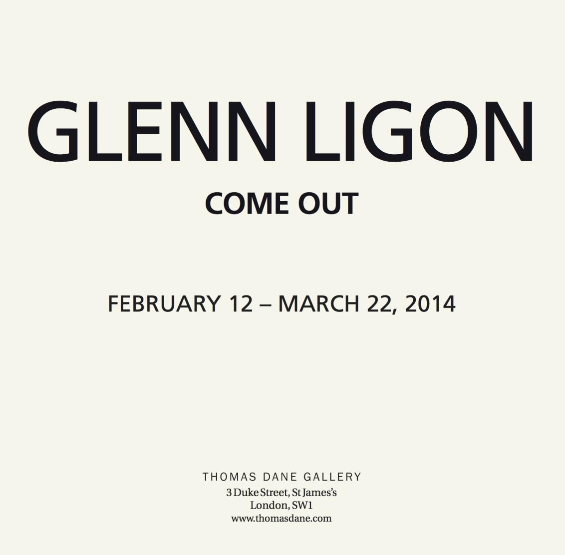 Glenn Ligon: Come Out