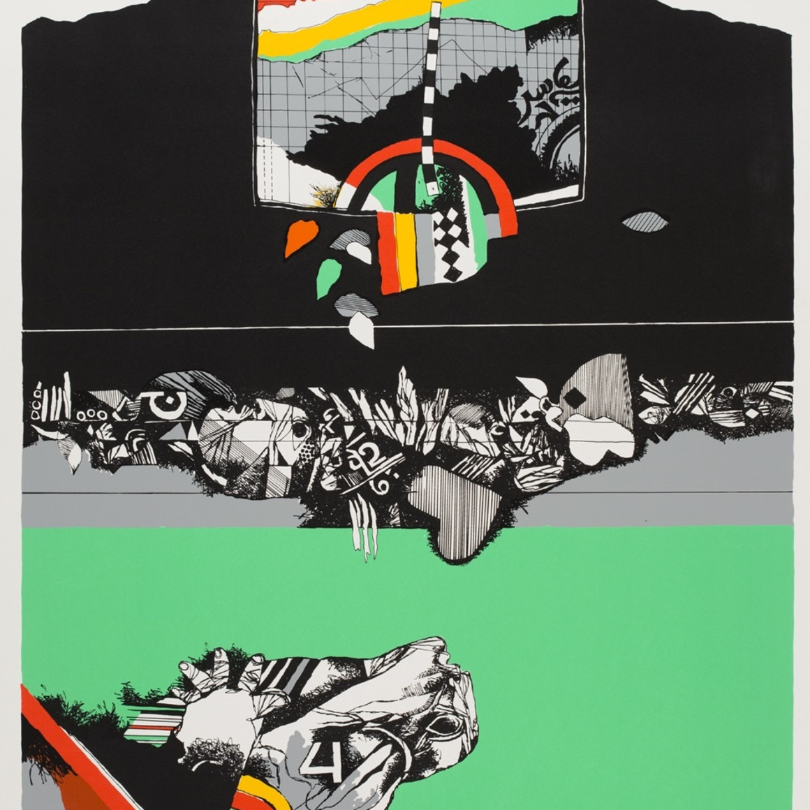 Dia al-Azzawi, Oriental Scene, 1978
