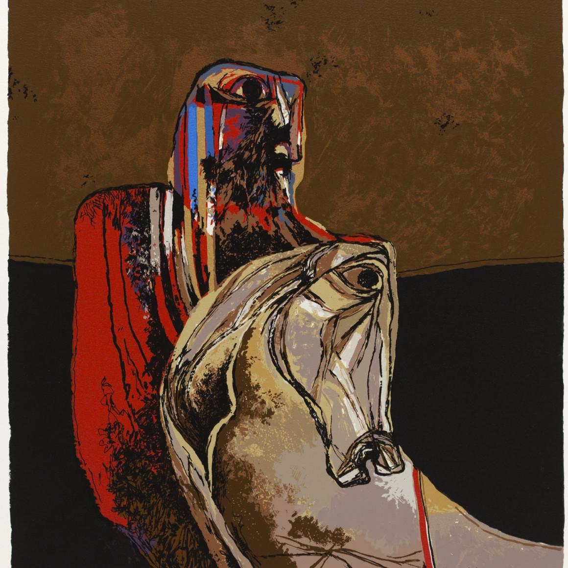Dia al-Azzawi, Man on Horse, 1978
