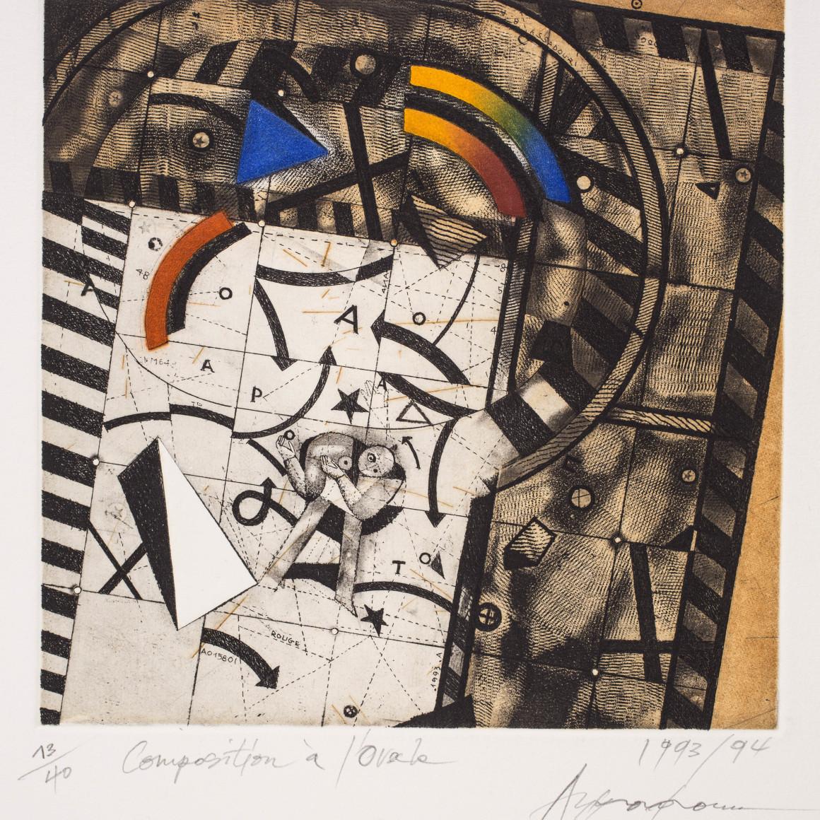 Assadour, Composition à l'ovale , 1993/94