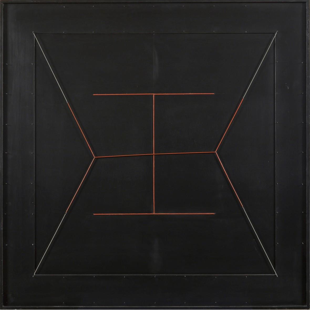 Spazio elastico, doppia I rossa (Elastic Space, Double Red I)