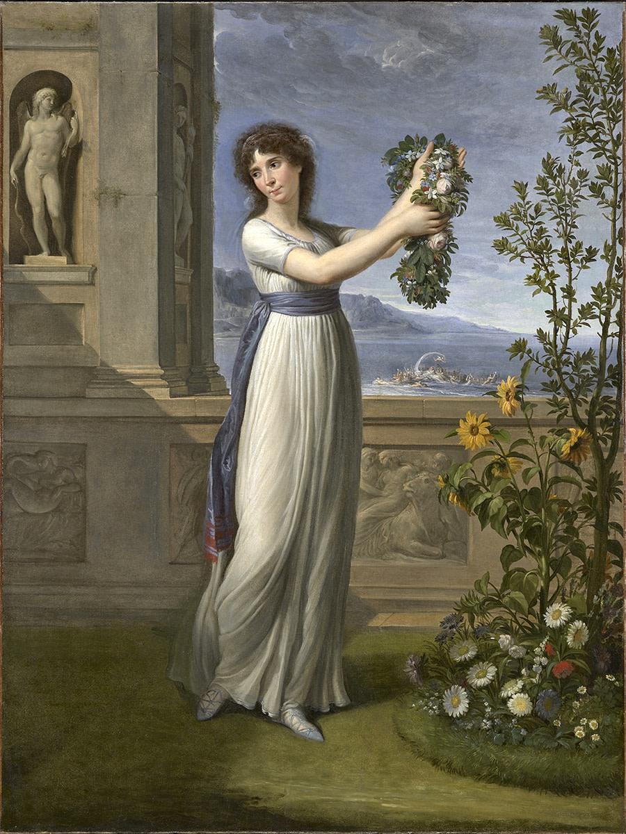 <p><strong>Andrea Apppiani</strong>,<em> Josephine Bonaparte de Beauharnais Crowning a Myrtle Sacred to</em> Venus, 1796</p>