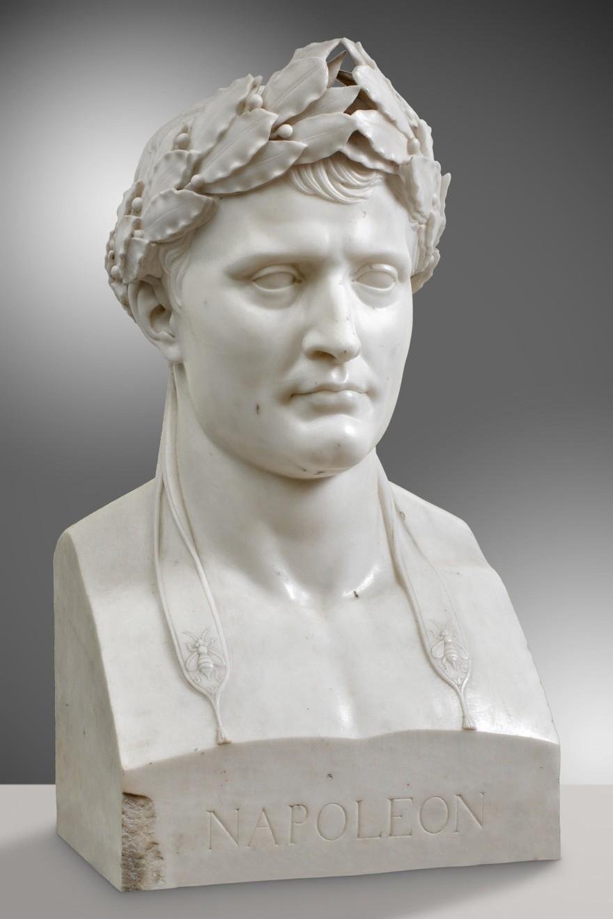 "<p><b>Attributed to Lorenzo Bartolini,</b><i style=""line-height: 1.8em;"">Napoleon I</i></p>"