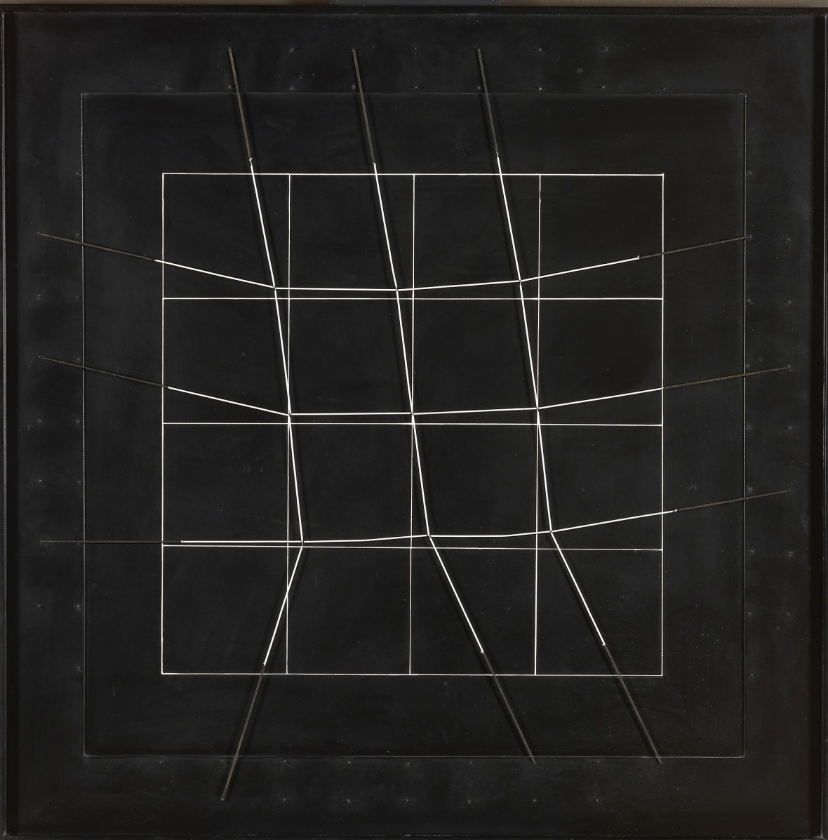 <p><b>Gianni Colombo,</b><i>Spazio elastico 16 doppi quadrati adiacenti- (intermutabile)</i> <i>[Elastic Space, 16 Adjacent Double Squares (Intermutable)]</i>, 1977</p><p></p>