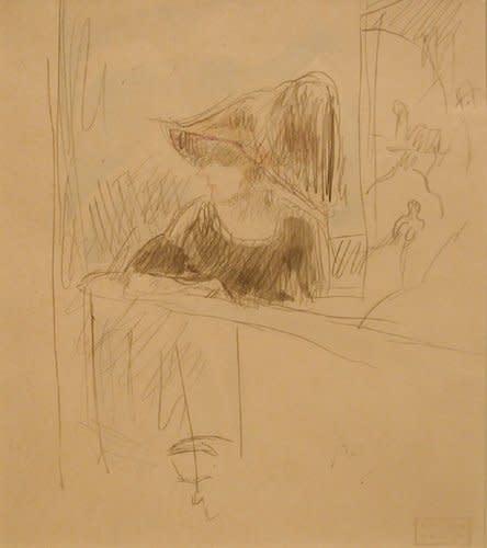 Jules Pascin, Girl at the bar, 1918