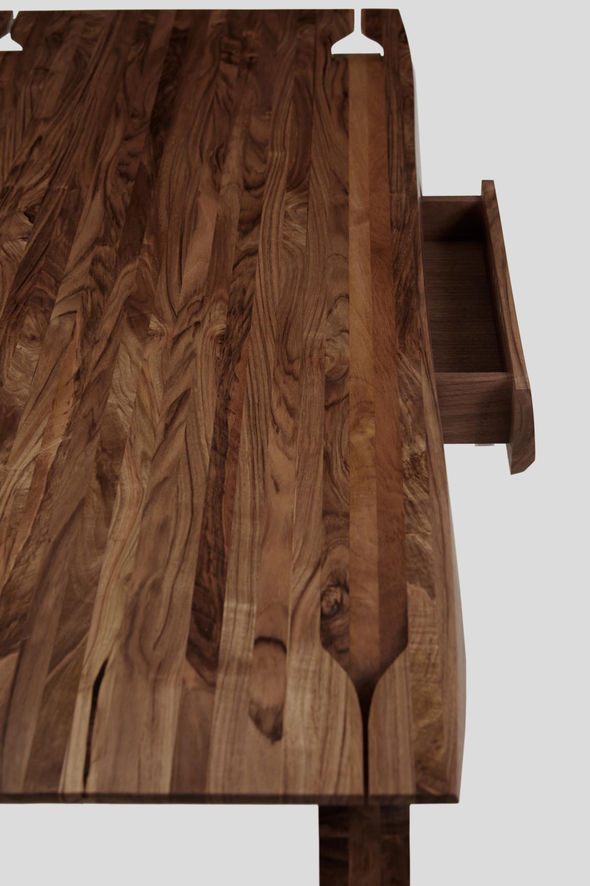 English Walnut Desk, Design no.5