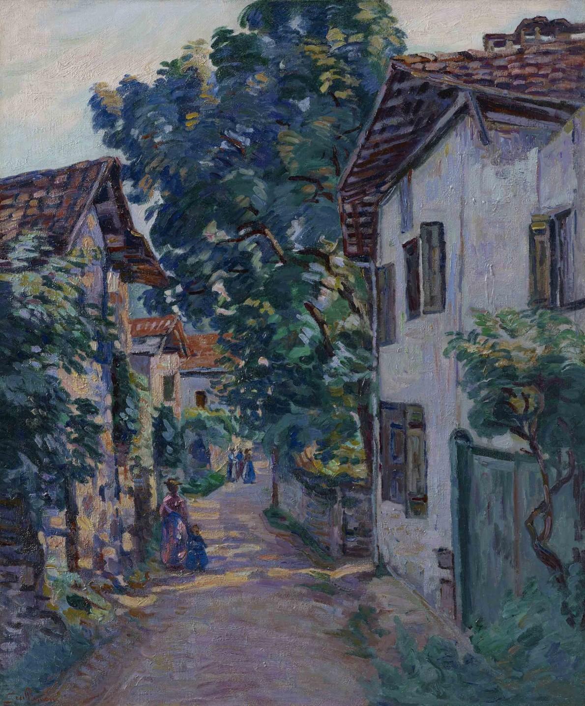 Jean Baptiste Armand Guillaumin, Une rue à Epinay sur Orge, c.1885